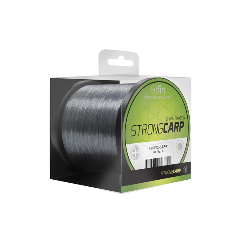 Vlasec na ryby FIN STRONG CARP sivá 300m 0,25mm 12,1lb
