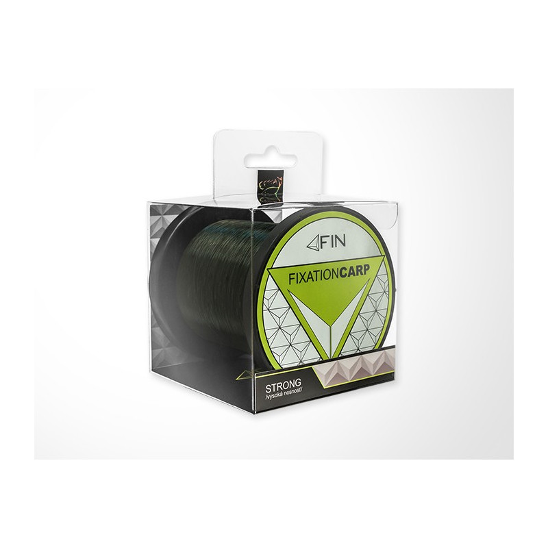 Vlasec na ryby FIN STRONG CARP dark olive 1200m 0,32mm 19,4lb