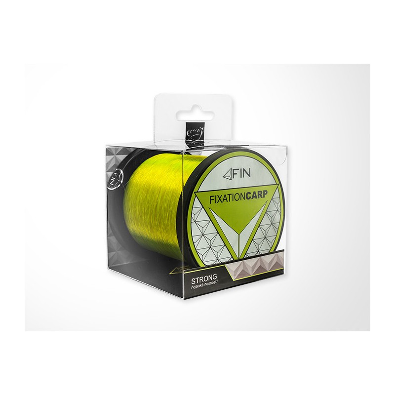 Vlasec na ryby FIN Strong CARP fluo žltá 300m 0,35mm 22,2lb 2ks v balení