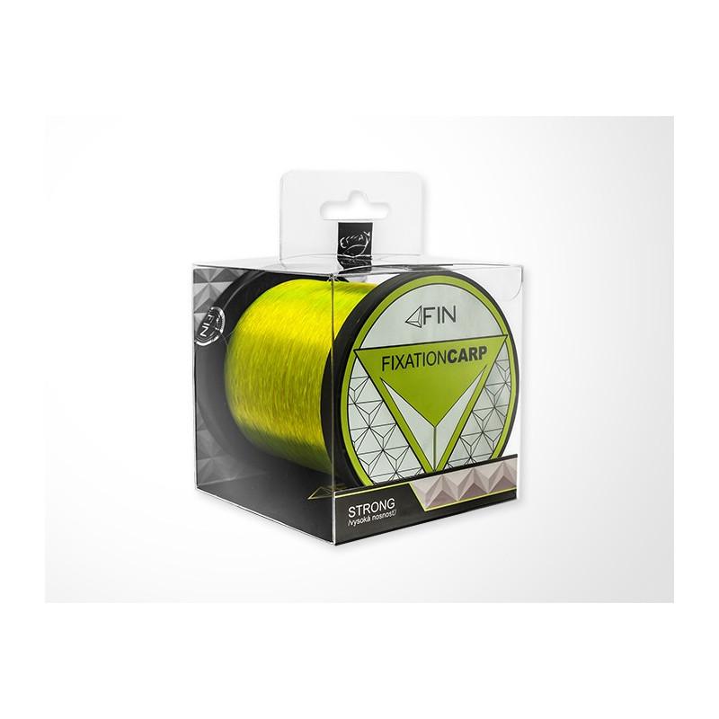 Vlasec na ryby Fin Strong Carp Fluo žltá 600m 0,35mm 22,2lb 2ks v balení