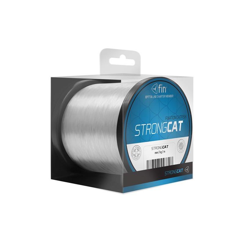 Vlasec na ryby FIN STRONG CAT 500m / transp.0,50mm 33lbs 2ks v balení