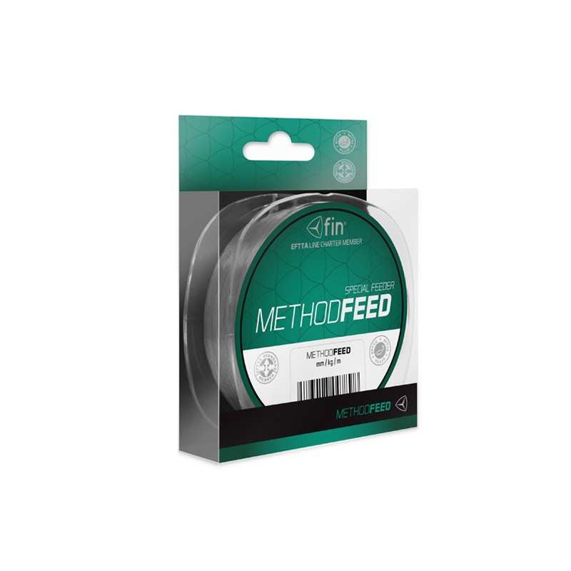 Vlasec na ryby FIN Method Feed sivá 150m 0,14mm 4lb