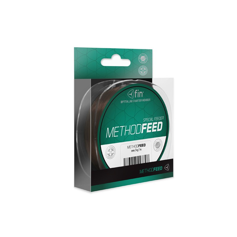 Vlasec na ryby FIN Method Feed brown 150m 0,14mm 4lb