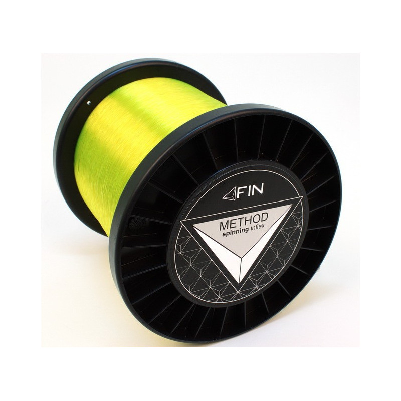 Vlasec na ryby FIN METHOD SPIN fluo yellow 5000m 0,14mm 4lb
