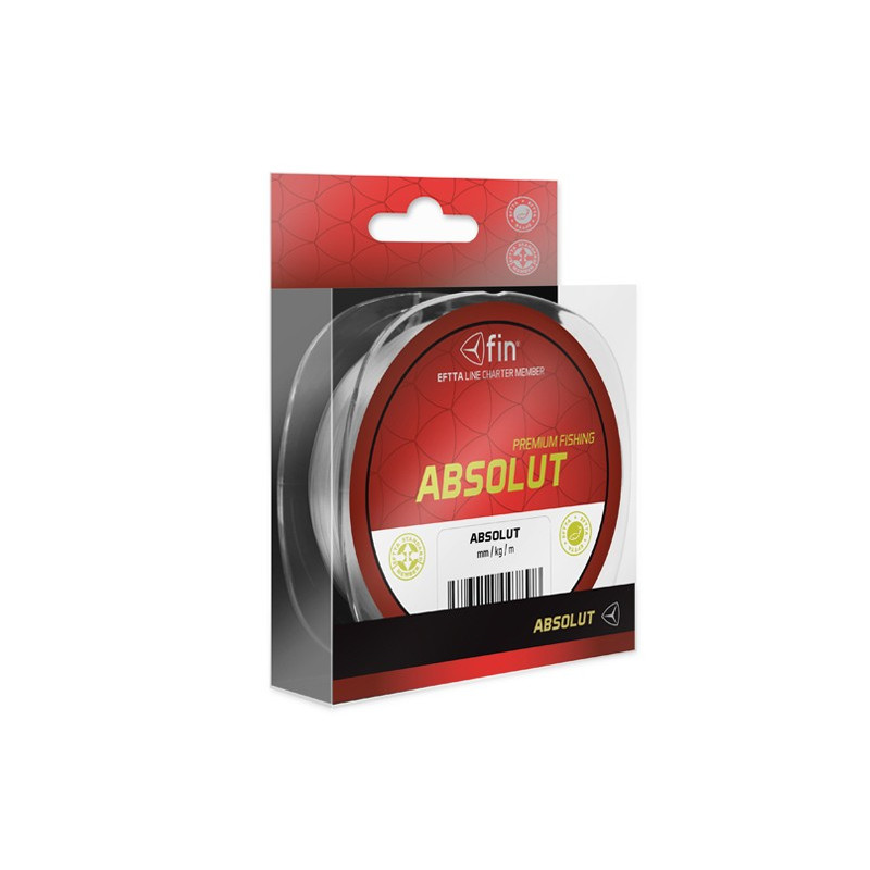 Vlasec na ryby FIN ABSOLUT 200m 0,12mm 3,1lb