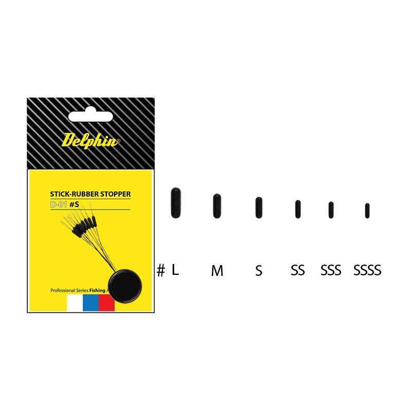 8 + 2 balenia zdarma Delphin Zarážka Stick Rubber Stopper S   rybárska zarážka pre výrobu koncových zostáv