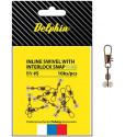 8 + 2 balenia zdarma Karabínka s obratlíkom DELPHIN Inline head swivel with Interlock BN rybárska