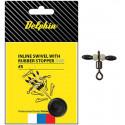 8 + 2 balenia zdarma DELPHIN Karabínka s obratlíkom Inline swivel with rubber stopper S 0 rybárska