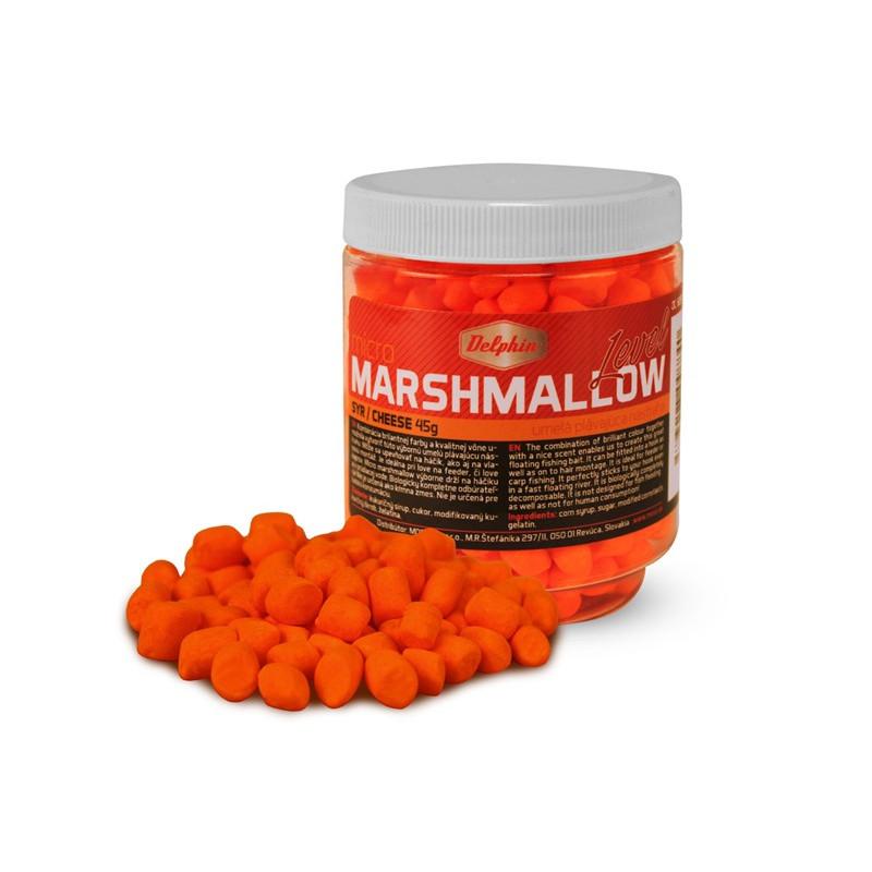Plávajúca nástraha na ryby Delphin Micro MARSHMALLOW / syr oranžová