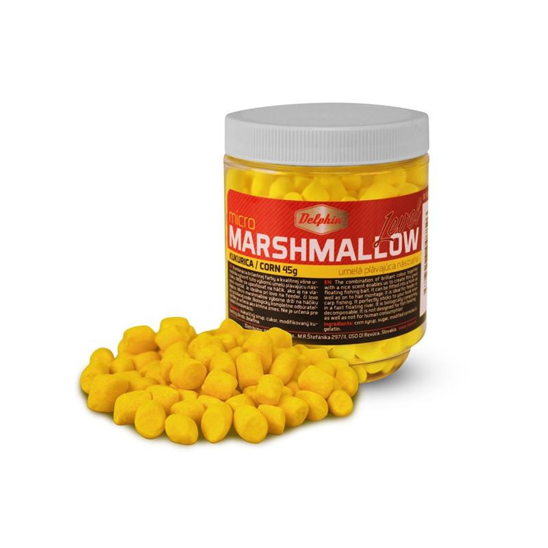 Plávajúca nástraha na ryby Delphin Micro MARSHMALLOW / kukurica žltá