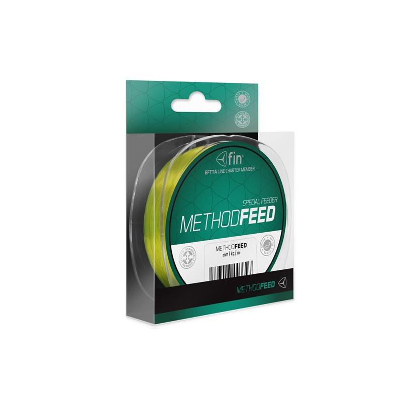 Vlasec na ryby Fin Method Feed Žltá 200m 0,18mm 6,6lb