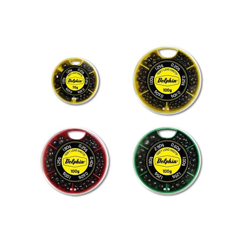 Vyvažovacie olovká DELPHIN SOFT (žltá krabička) 100g/0,2-1,25g rybárske