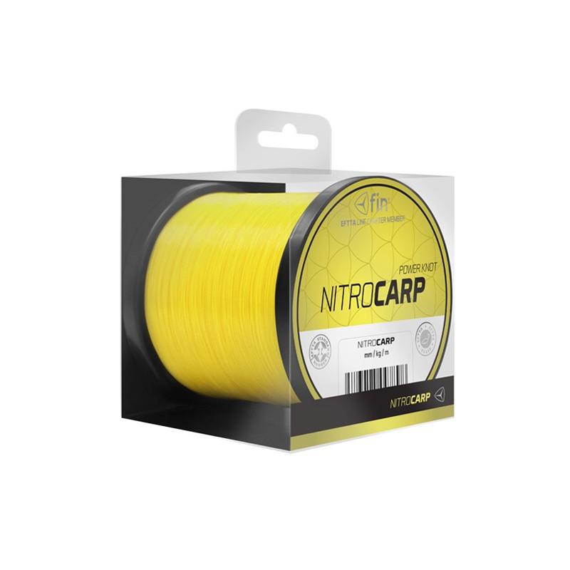 Vlasec na ryby FIN NITRO CARP sýta žltá 600m 0,25mm 11,5lb