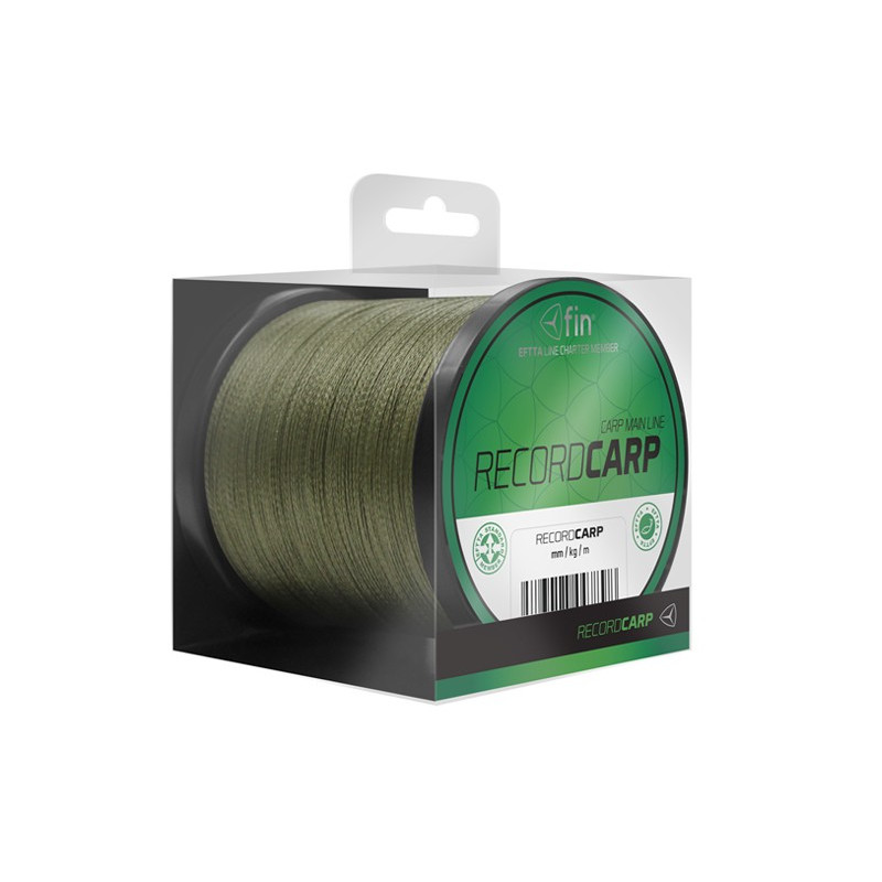 Kaprárska rýchlo potápavá šnúra FIN Record CARP zelená 1000m 0,16mm 6,2kg