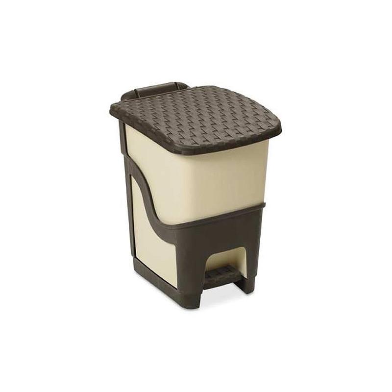 Kos DEAhome Rattan 18 lit, mliečny, na odpad, pedálový