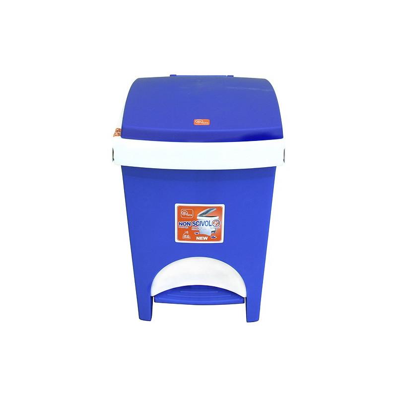 Kos na odpad ICS C602018, 18 lit, pedálový, modrý