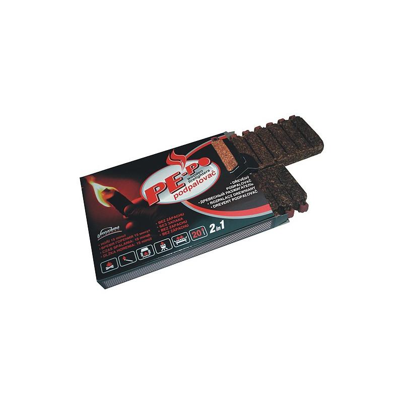 Drevný podpalovač PE-PO® 20 podpalový FSC 100%
