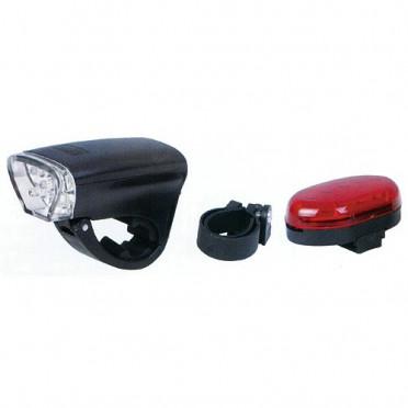 Set LED baterky prednej a LED svetla zadného na bicykel pre rybárov