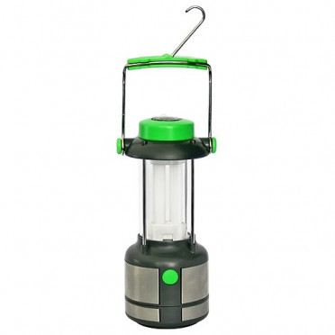 Kempingová lampa s kompasom na baterky
