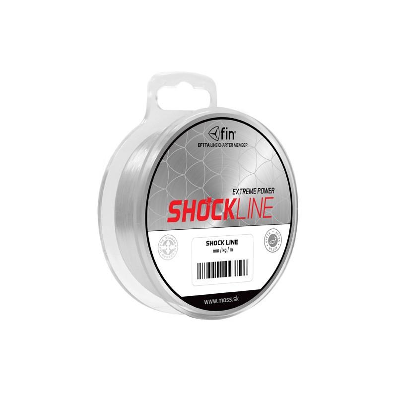 4 + 1 balenie zdarma Rybársky šokový vlasec Fin Shock Line 80m 0,60mm 45,1lb