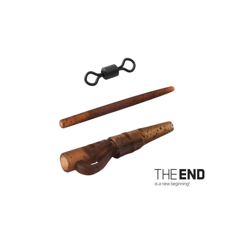 Montáž THE END na olovo pin-swivel / 7ks