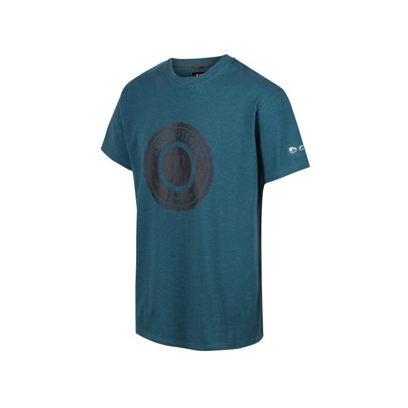 Rybárske tričko s krátkym rukávom Greys Heritage Petrol