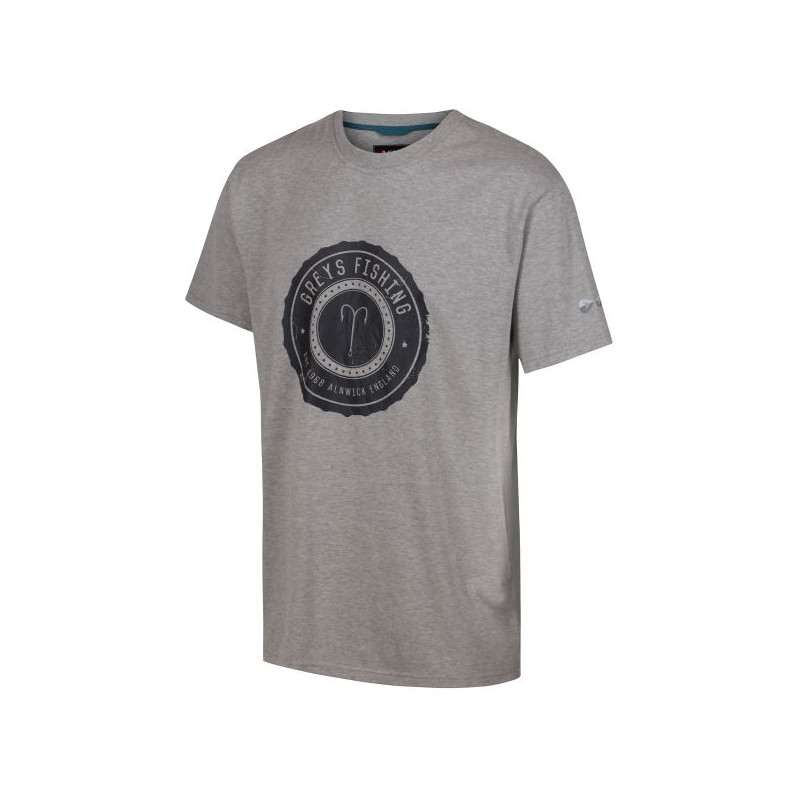 Rybárske tričko s krátkym rukávom Greys Heritage Grey