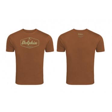 Originálne tričko Delphin Czechoslovakia hnedé