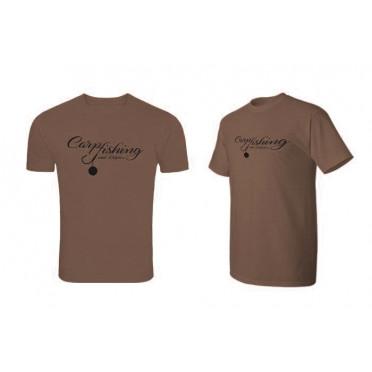 Originálne tričko Delphin CARP fishing hnedé