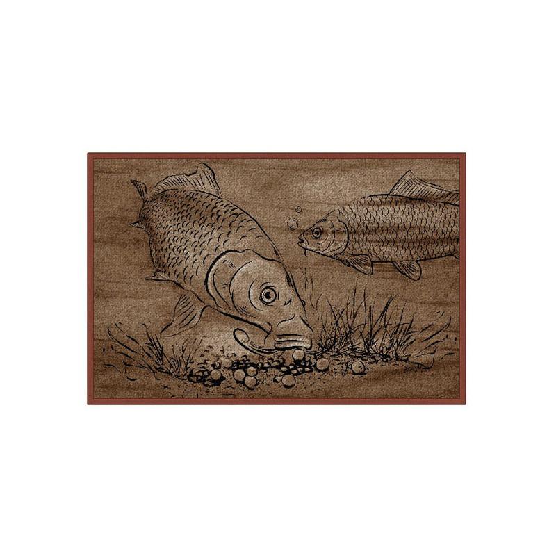 Rybárska rohož Retro BOILIE KAPRE 60x40cm 2ks v balení
