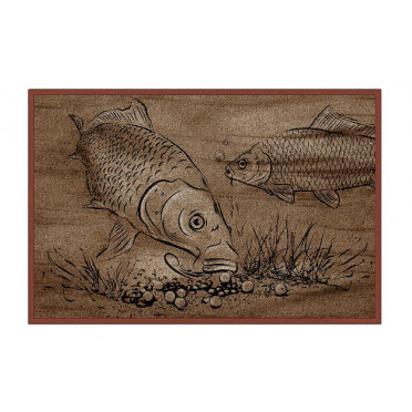 Rybárska rohož Retro BOILIE KAPRE 60x40cm