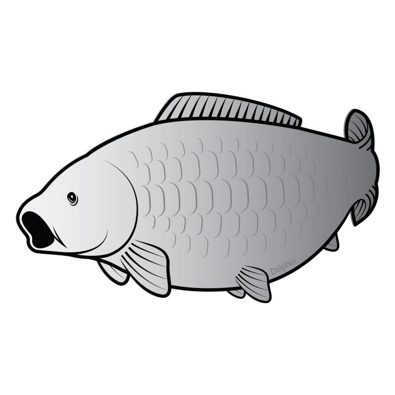 8 + 2 balenia zdarma Rybárska nálepka   kapor SILVER