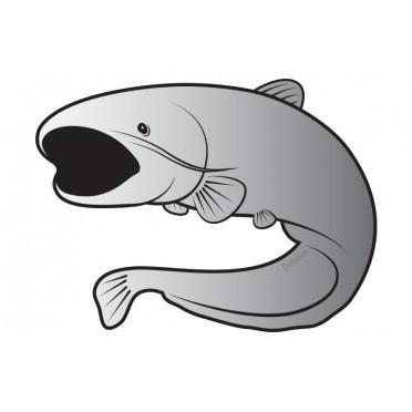 8 + 2 balenia zdarma Rybárska nálepka   sumec SILVER