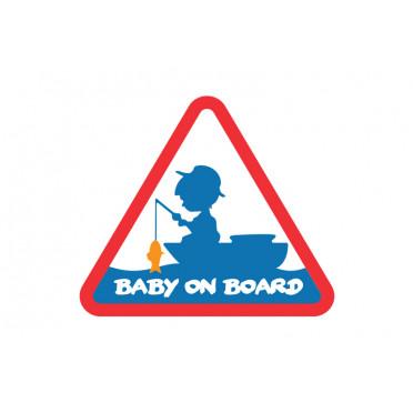 8 + 2 balenia zdarma Rybárska nálepka   BABY ON BOARD