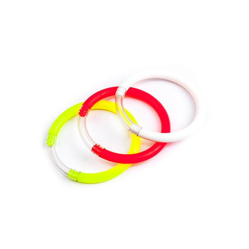 DELPHIN Signalizátor záberu okrúhly/mix 3 farieb rybársky signalizátor záberu balenie 30ks