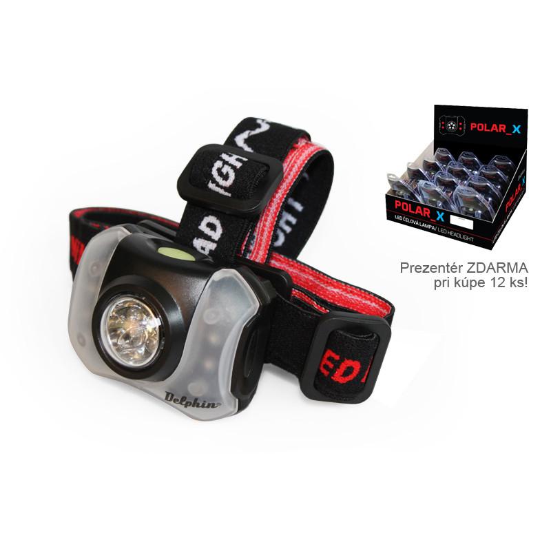 Rybárska čelovka DELPHIN POLAR X 5+4 LED