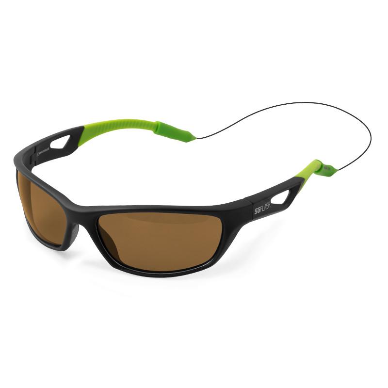 Polarizačné okuliare Delphin SG FLASH hnedé sklá