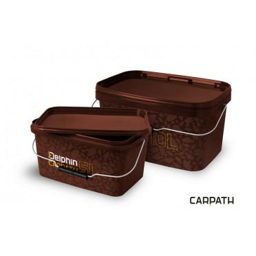 Hranaté vedro s vrchnákom Delphin CARPATH 10l balenie 5ks