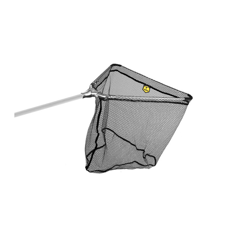 Podberák Delphin - kovový stred, gum.sieťka / 2 diely 70x70/250cm na ryby